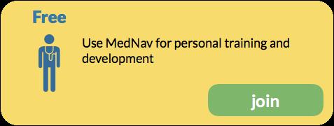 Use MedNav for personal training and development