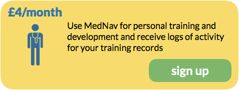 £4/month, Use MedNav for personal training and development and receive logs of activity for your training records